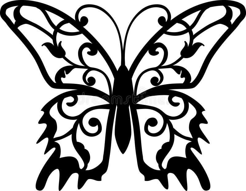 Elemento do projeto da borboleta ilustração royalty free