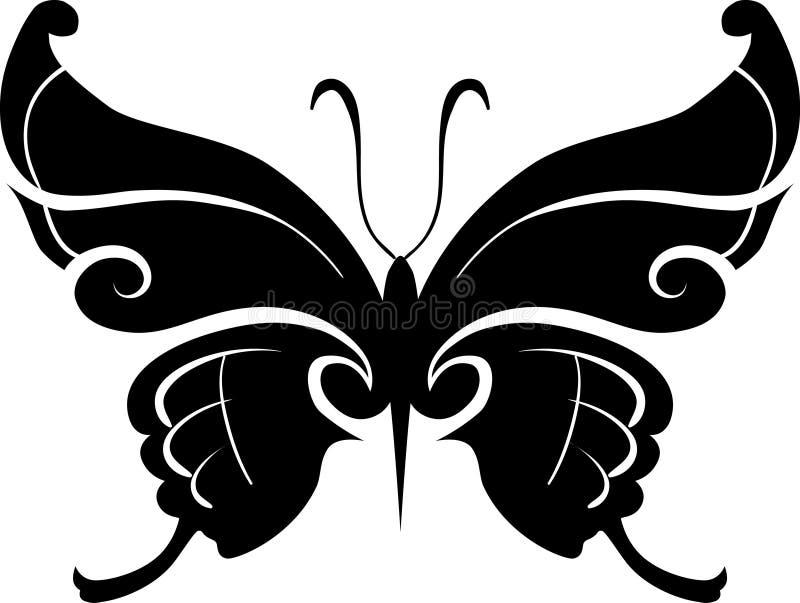 Elemento do projeto da borboleta ilustração stock