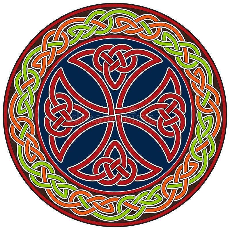 Elemento do projeto da cruz celta ilustração royalty free