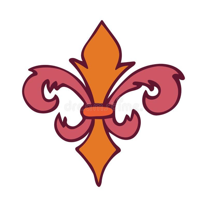 Elemento do projeto de Fleur De Lis isolado no fundo branco ilustração royalty free