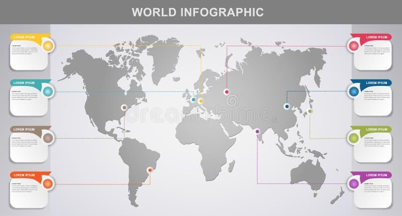 Elemento do projeto de Infographic do mundo moderno ilustração stock