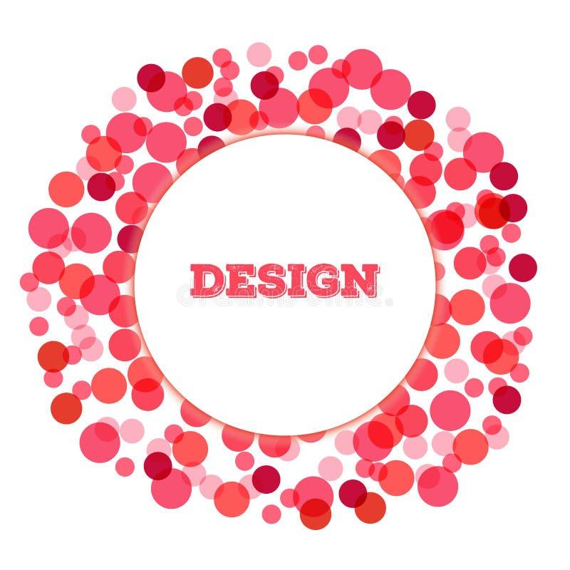 Elemento do projeto do círculo do ponto de Valentine Abstract Halftone ilustração stock