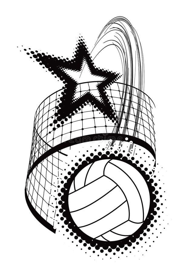Elemento do projeto do esporte do voleibol ilustração do vetor