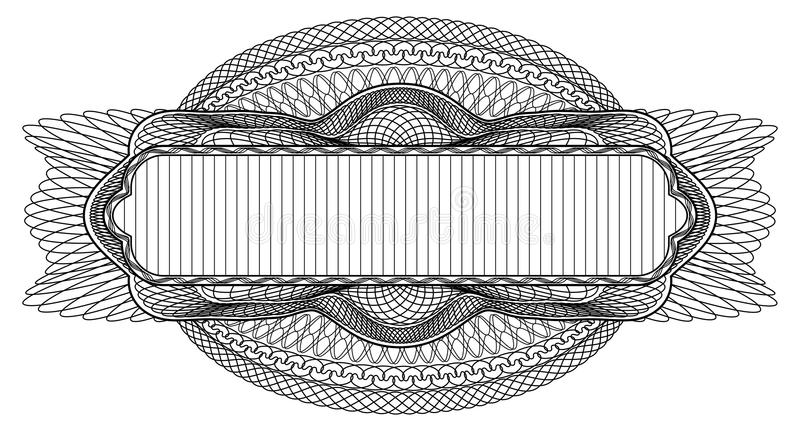 Elemento do projeto do Guilloche ilustração stock