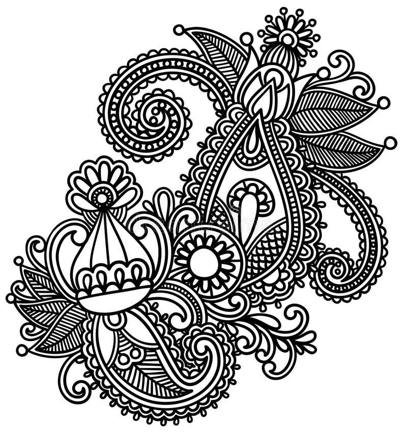 Elemento do projeto do Henna ilustração royalty free