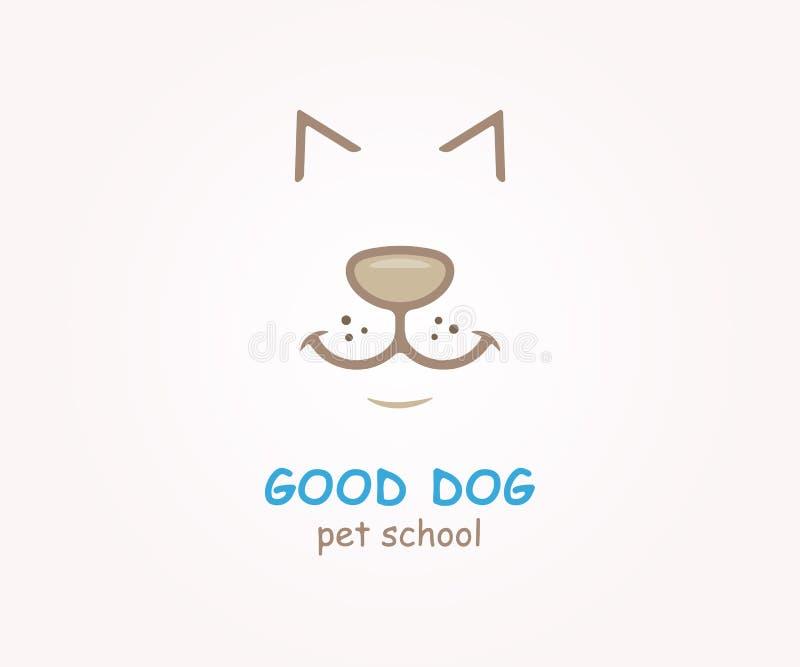 Elemento do projeto do logotipo do vetor Cão, animal, animal de estimação ilustração stock