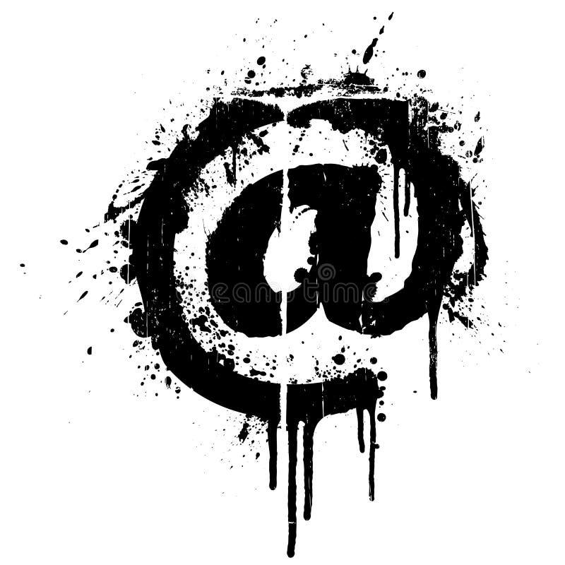 Elemento do projeto do splatter do grunge do correio ilustração stock