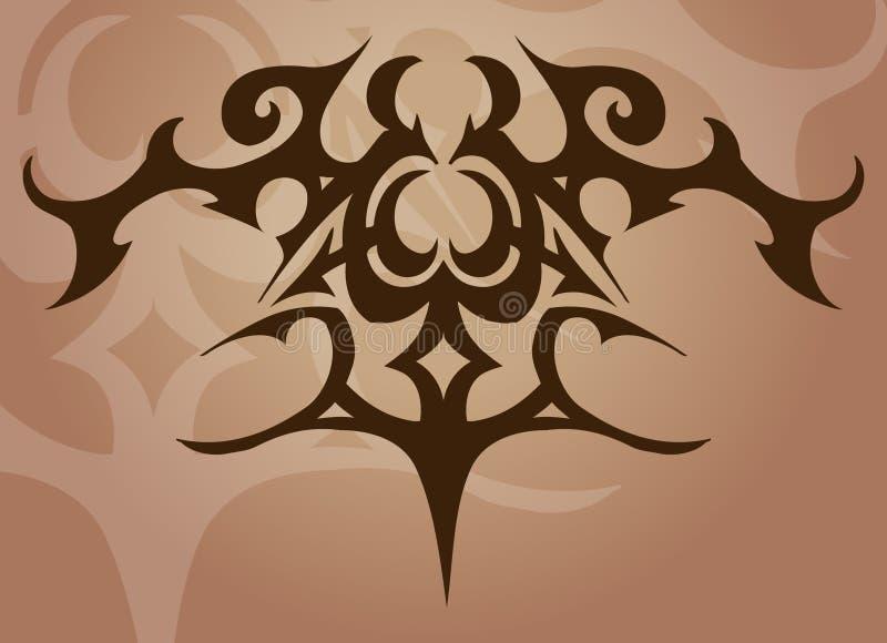 Elemento do projeto do tatuagem ilustração do vetor