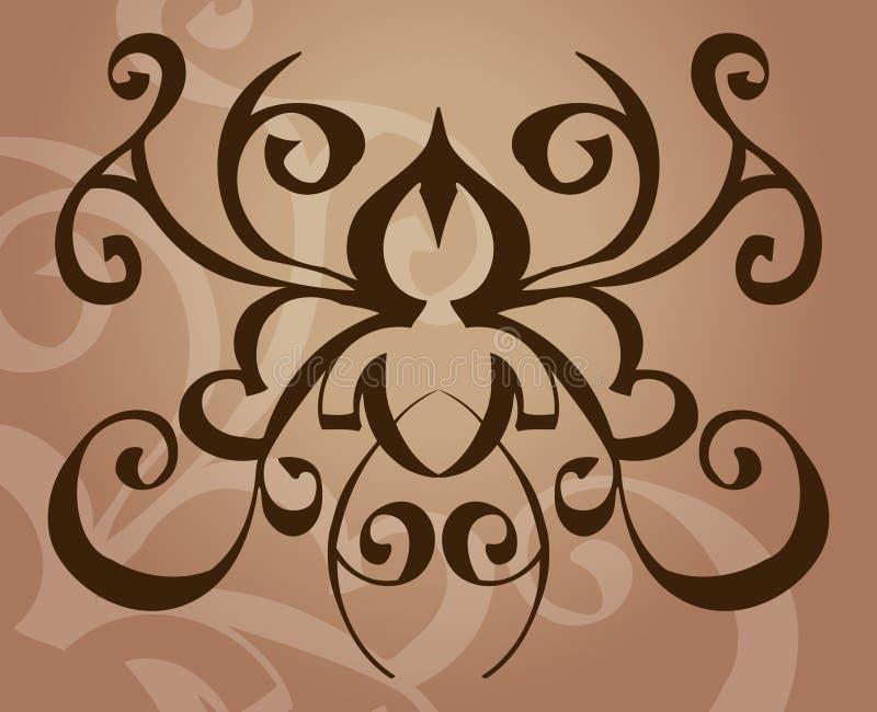 Elemento do projeto do tatuagem ilustração stock
