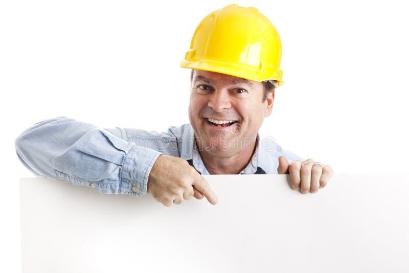 Elemento do projeto do trabalhador da construção imagem de stock royalty free