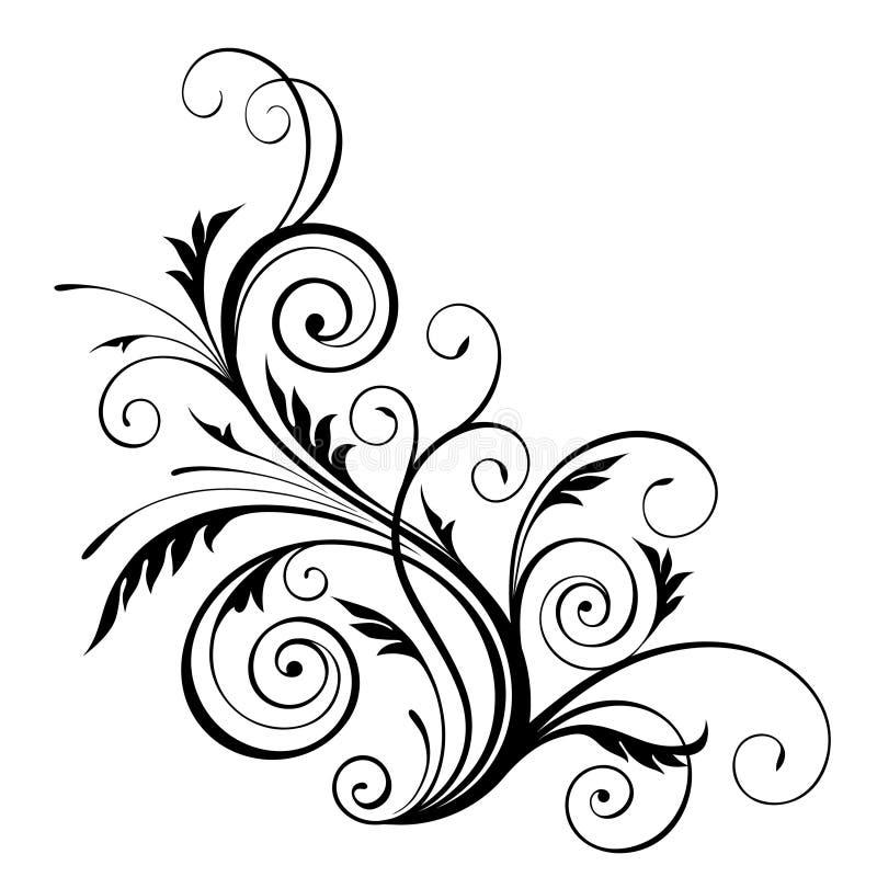 Elemento do projeto floral do vetor ilustração royalty free
