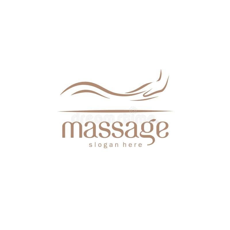 Elemento do projeto do logotipo do vetor para o salão de beleza da massagem ilustração do vetor
