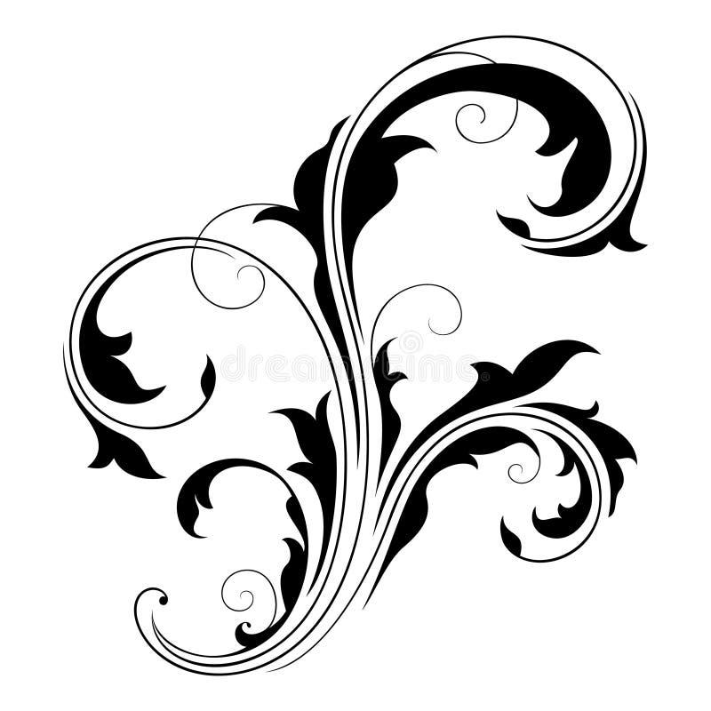 Elemento do projeto (redemoinhos) - 2 ilustração do vetor