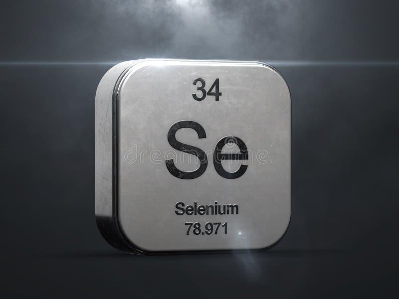 Elemento do selênio da tabela periódica ilustração do vetor
