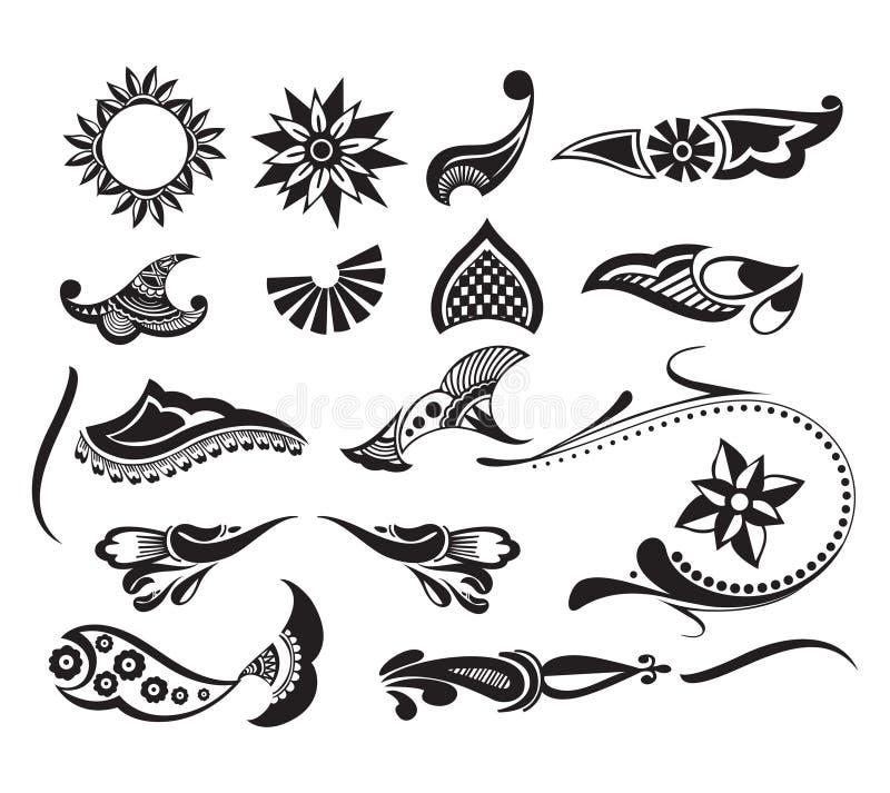 Elemento do tatuagem ilustração stock