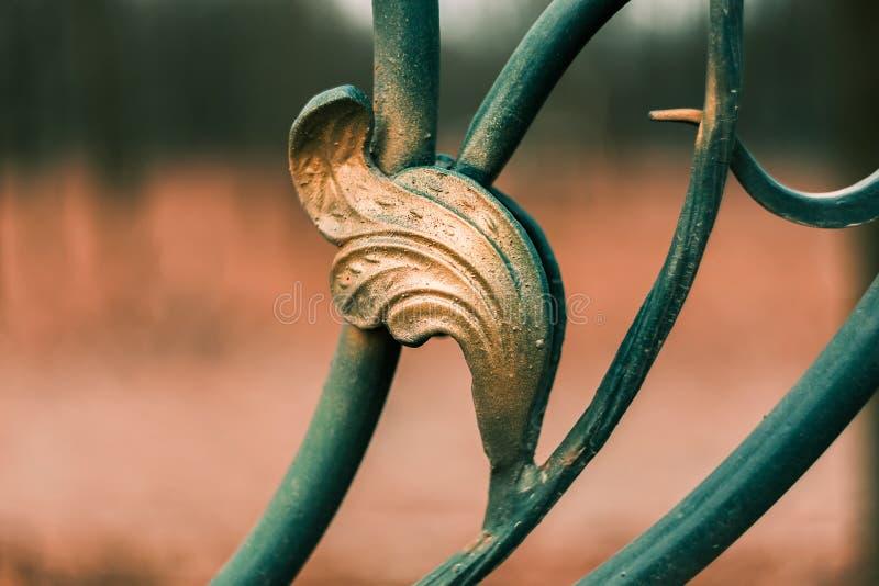 Elemento do teste padrão do sumário do ornamento da cerca do metal fotos de stock