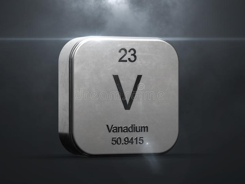 Elemento do vanádio da tabela periódica ilustração royalty free
