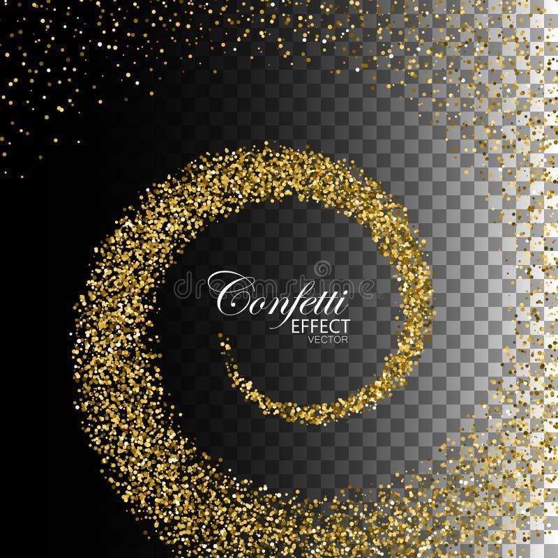 Elemento dos confetes da decoração para o projeto ilustração stock
