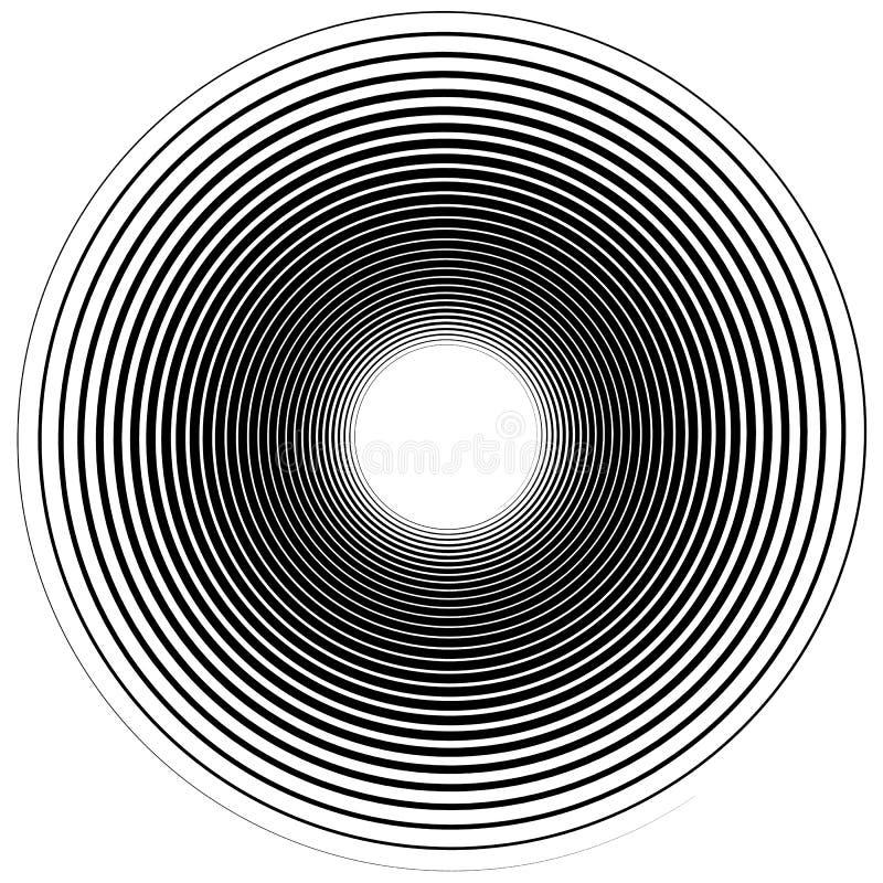 Elemento espiral abstrato Pirueta, redemoinho, forma do whorl ilustração stock