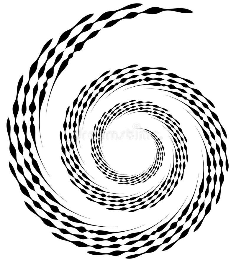 Elemento espiral Forma de roda concêntrica com as linhas que giram dentro ilustração royalty free