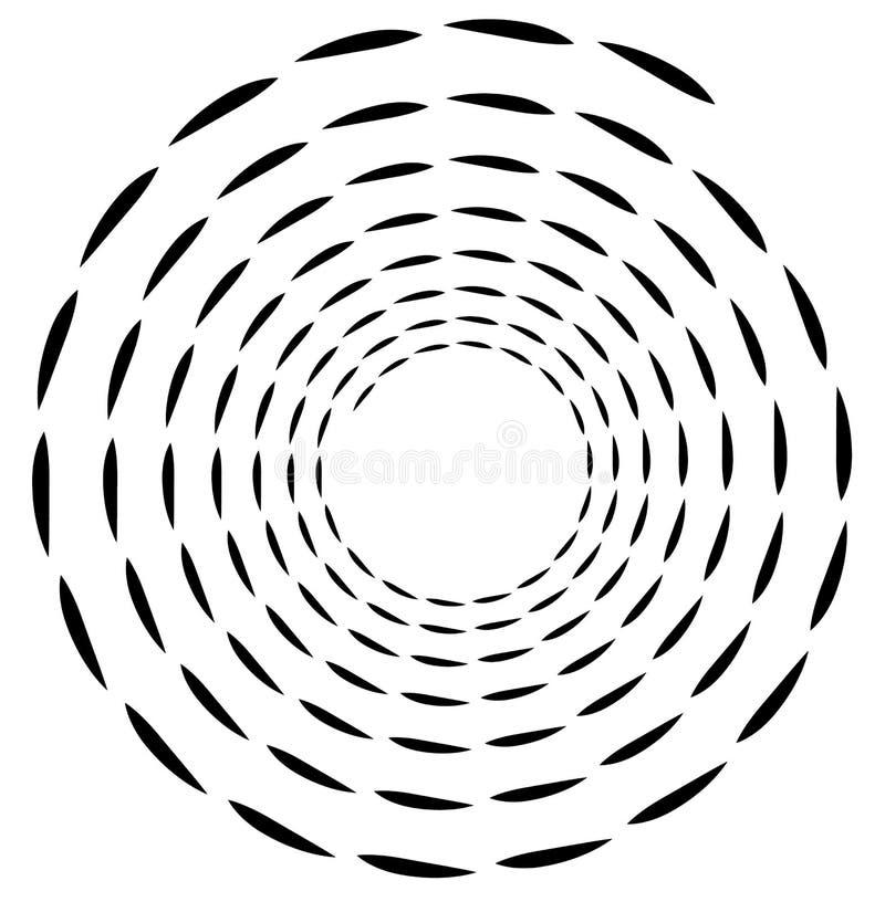 Elemento espiral Forma de roda concêntrica com as linhas que giram dentro ilustração do vetor