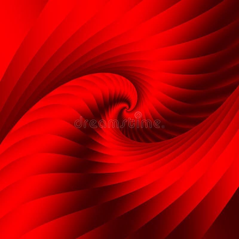Elemento espiral vermelho Estrutura espacial geométrica Fundo abstrato bonito ilustração royalty free