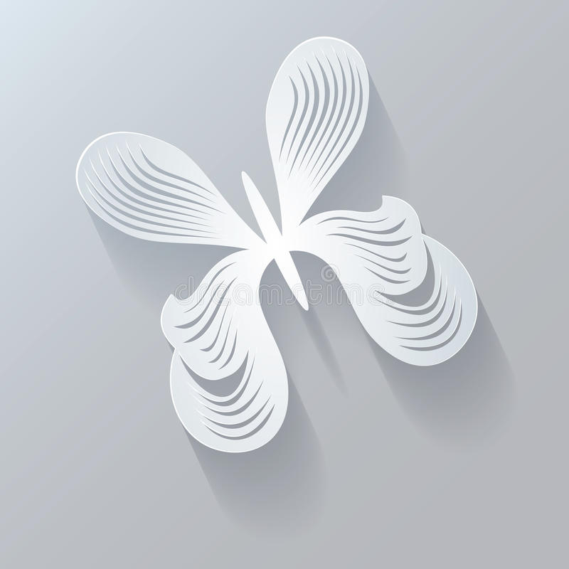 Elemento estilizado do projeto Projeto 3D geométrico abstrato Butterf ilustração do vetor