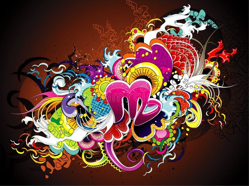 Elemento festivo colorido ilustração stock
