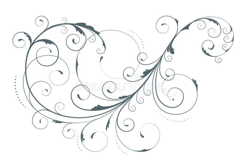 Elemento floral ilustração stock