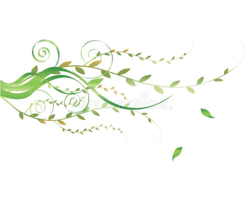 Elemento floral ilustración del vector