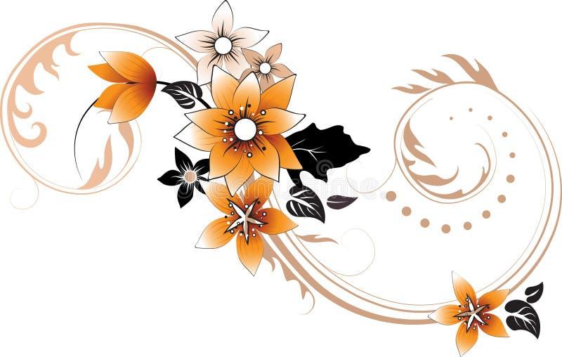 Elemento floral abstrato para o projeto ilustração do vetor