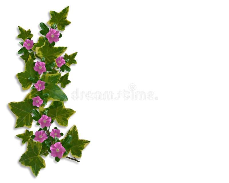 Elemento floral da beira do projeto da hera ilustração stock