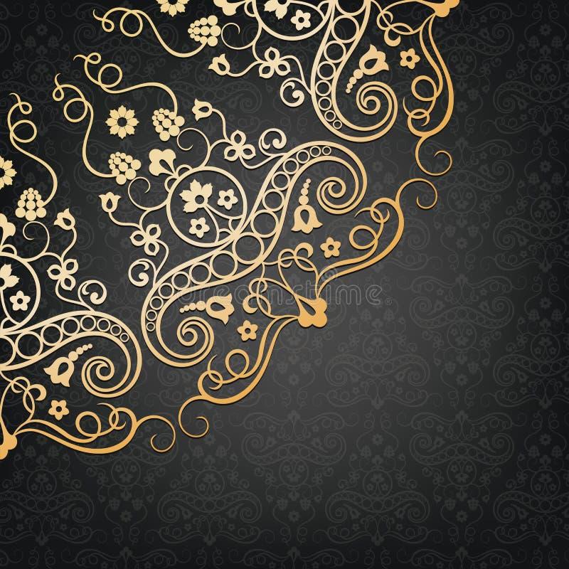 Elemento floral decorativo do vetor Estilo do vintage ilustração do vetor
