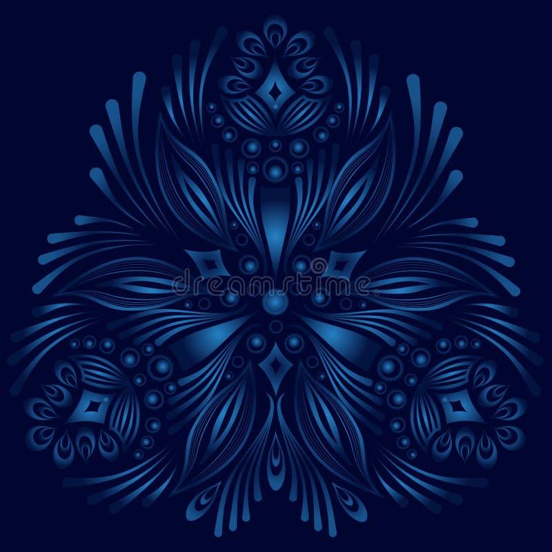 Elemento floral decorativo do vetor Estilo do vintage ilustração royalty free