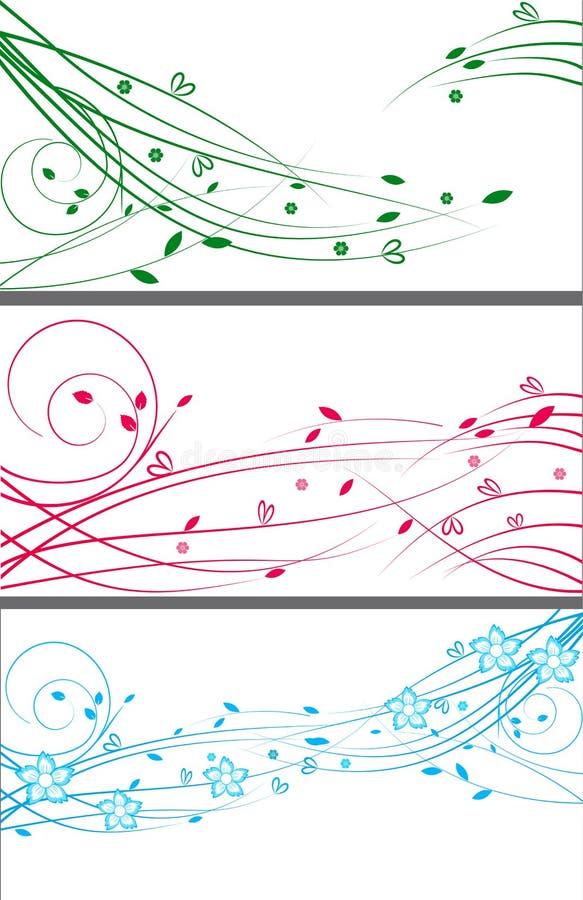 Elemento floral del diseño determinado del diseño del fondo stock de ilustración