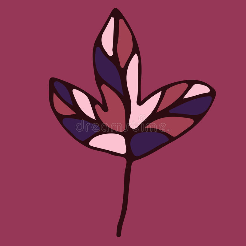 Elemento floral dibujado mano para el diseño stock de ilustración