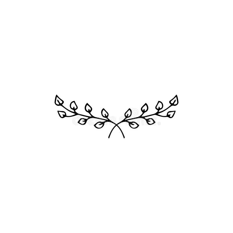 Elemento floral do logotipo ilustração do vetor