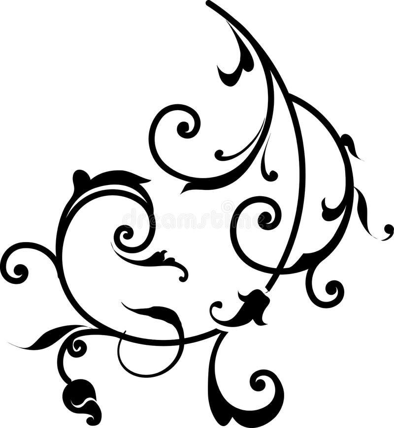 Elemento floral do projeto ilustração royalty free