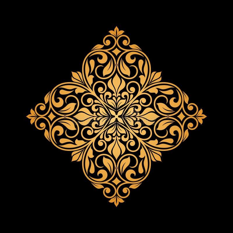 Elemento floral ornamental para el diseño ilustración del vector