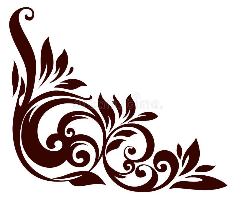 Elemento floreale illustrazione di stock