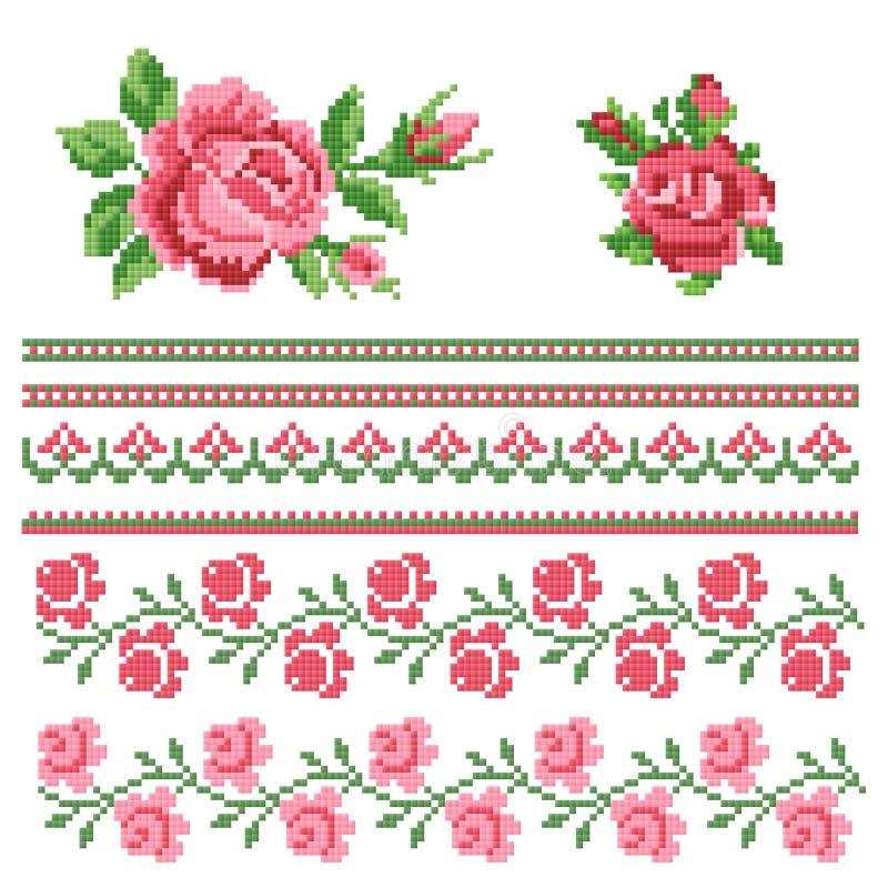 Elemento floreale del decorativ illustrazione vettoriale