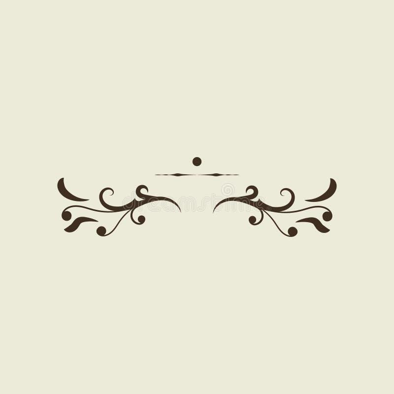 Elemento frame invito carta Grunge Calligraphic illustrazione di stock