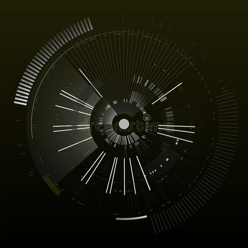 Elemento futurista del interfaz Círculo de la tecnología Interfaz de usuario futurista de Digitaces HUD Plantilla futurista aisla libre illustration