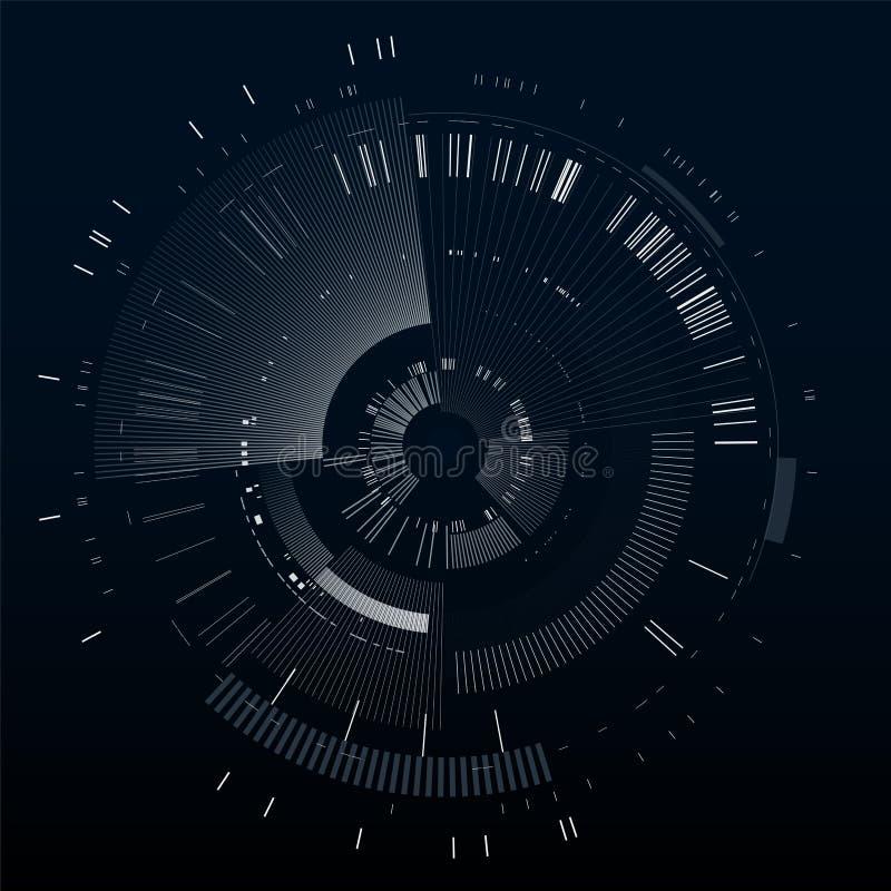Elemento futurista del interfaz Círculo de la tecnología Interfaz de usuario futurista de Digitaces HUD Plantilla futurista aisla ilustración del vector