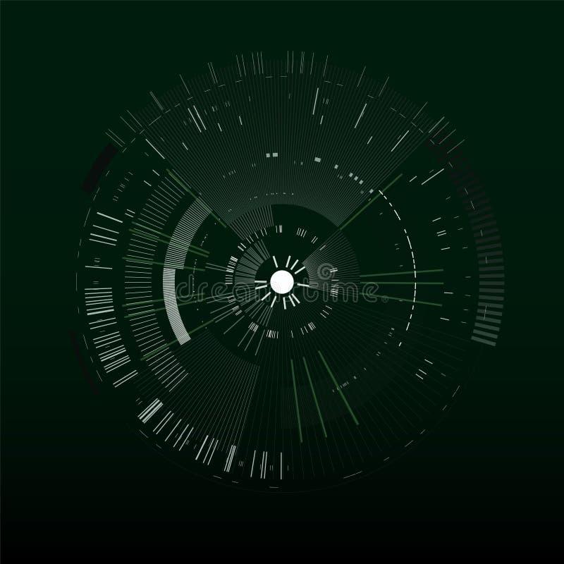 Elemento futurista del interfaz Círculo de la tecnología Interfaz de usuario futurista de Digitaces HUD Plantilla futurista aisla stock de ilustración