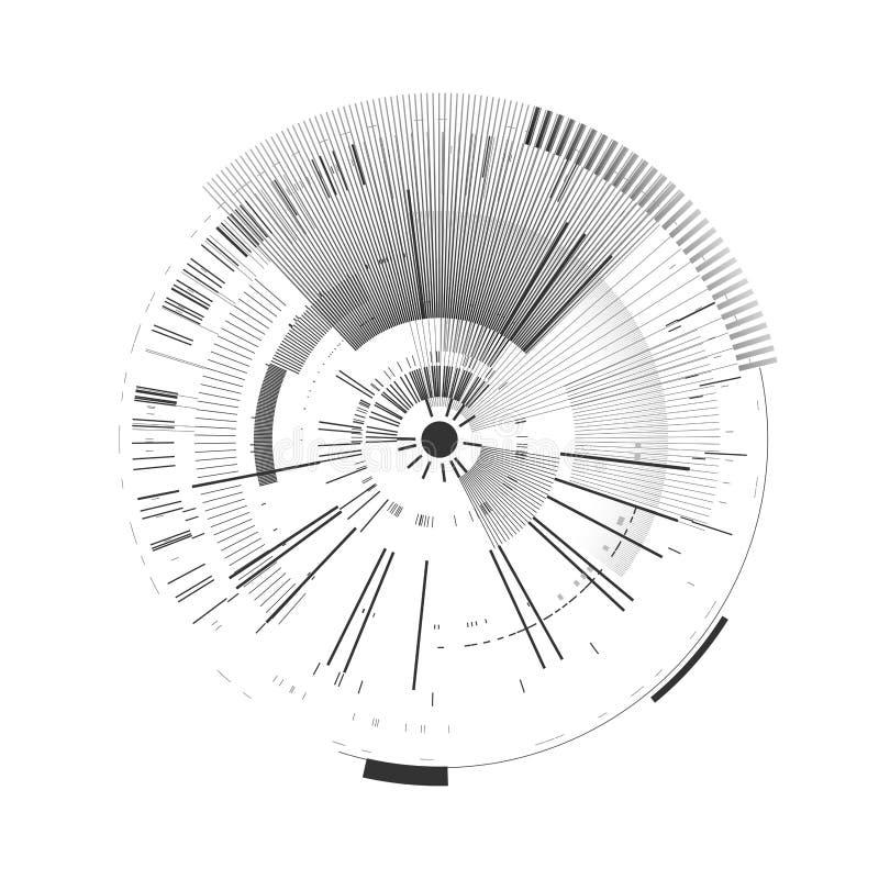 Elemento futurista del interfaz Círculo de la tecnología Interfaz de usuario futurista de Digitaces HUD Plantilla de Sci fi, fond libre illustration