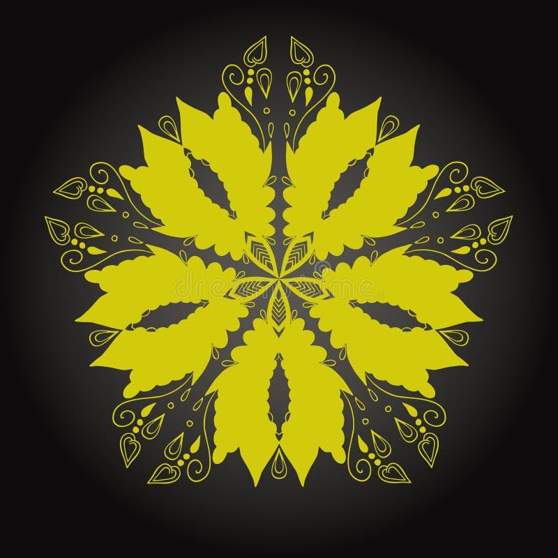 Elemento geométrico del círculo hecho en vector Tarjetas perfectas para cualquier otra clase del diseño, del cumpleaños y del otr ilustración del vector