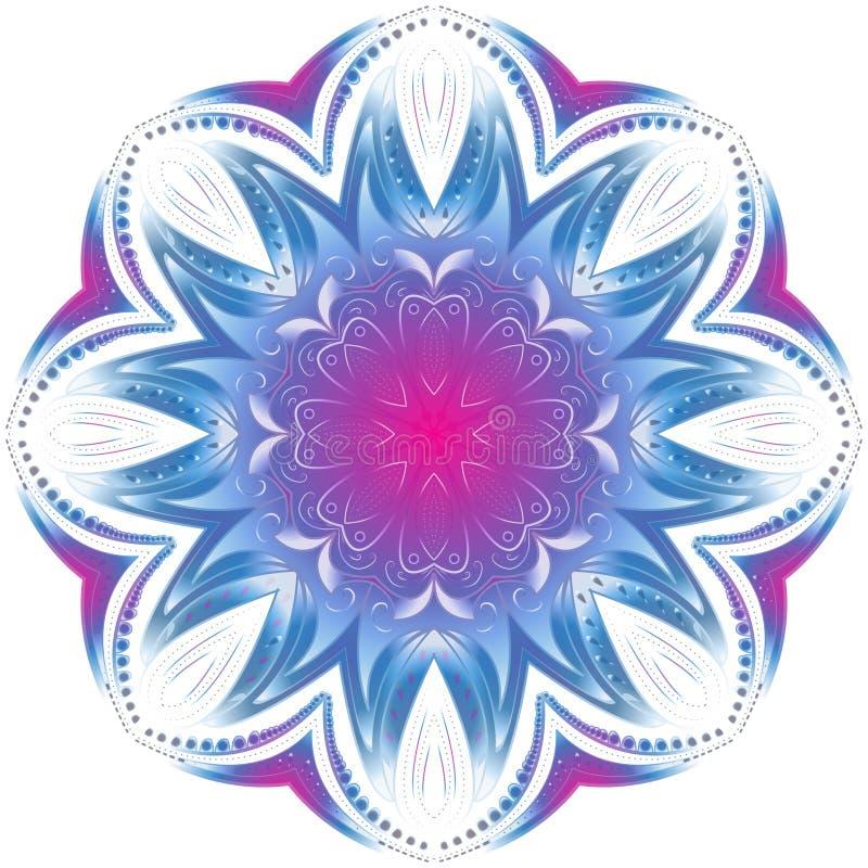Elemento geométrico del círculo Mandala para las tarjetas del día de fiesta de la decoración libre illustration