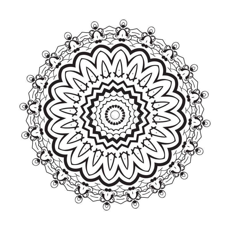 Elemento geométrico del círculo Mandala para las tarjetas, el fondo y los sitios del día de fiesta de la decoración Caleidoscopio libre illustration
