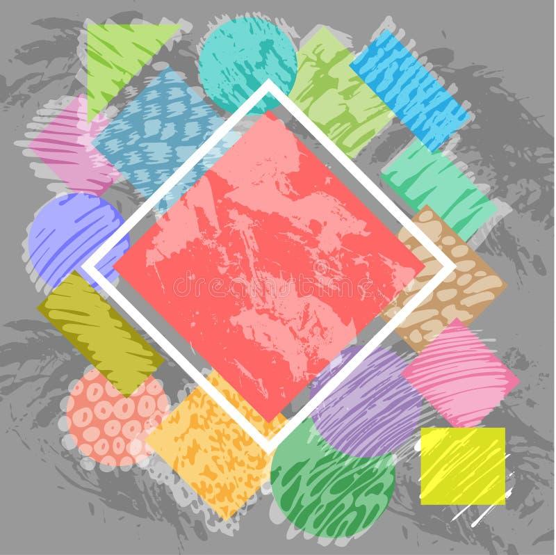 Elemento geométrico do fundo abstrato moderno ilustração stock